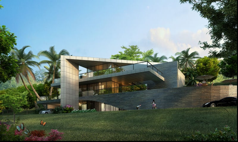 Amazing masterplan and hotel proposal for a luxury island for Tropical hotel decor