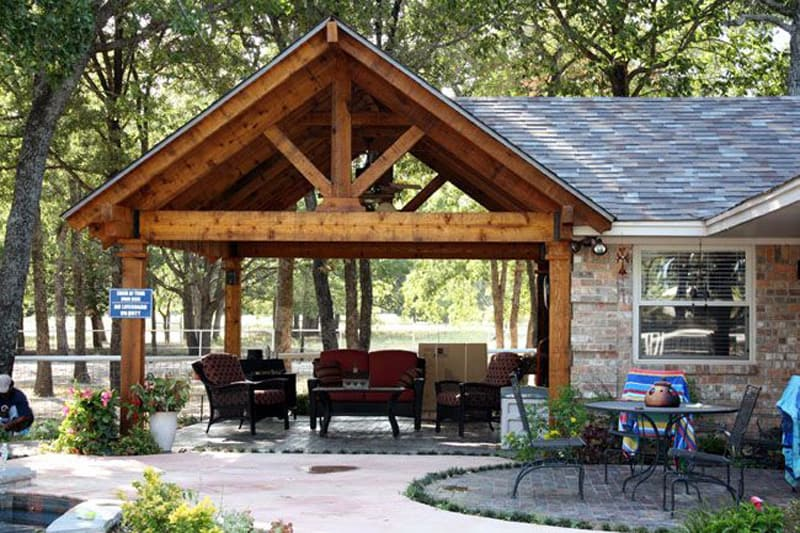 25 Warm and Cozy Rustic Outdoor Ideas To Decorate Your ... on Patio Cover Ideas id=76055