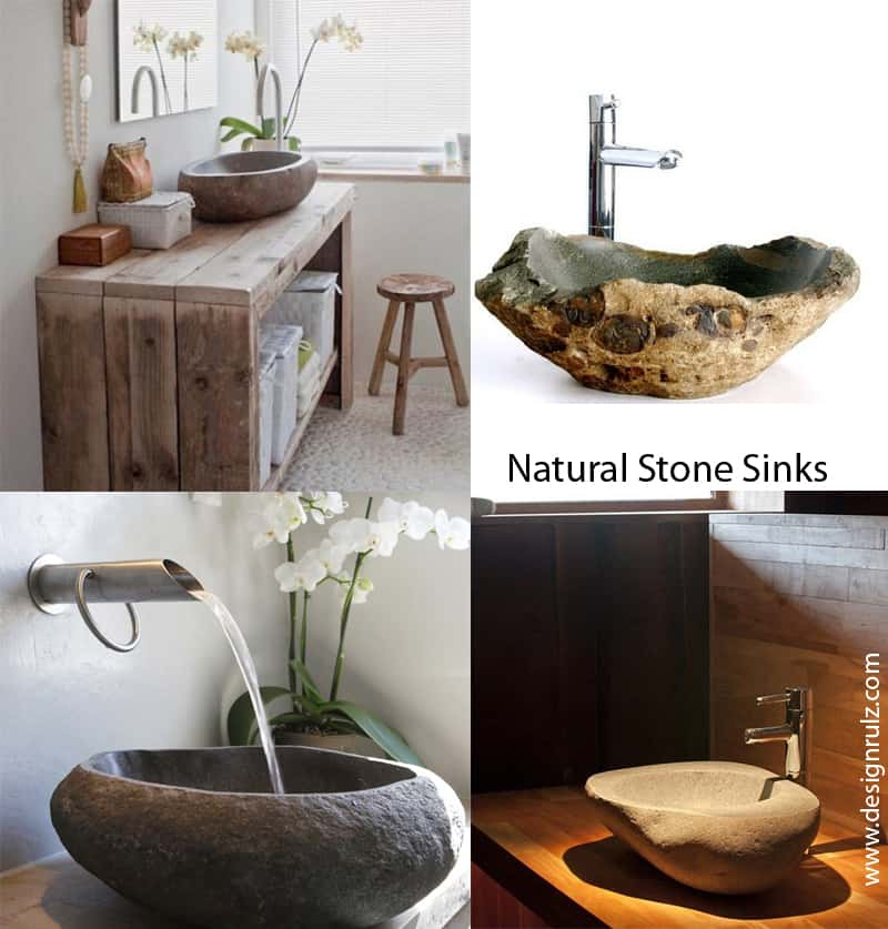 Cool Natural Stone Sinks Design Ideas - Bathroom sink designs pictures