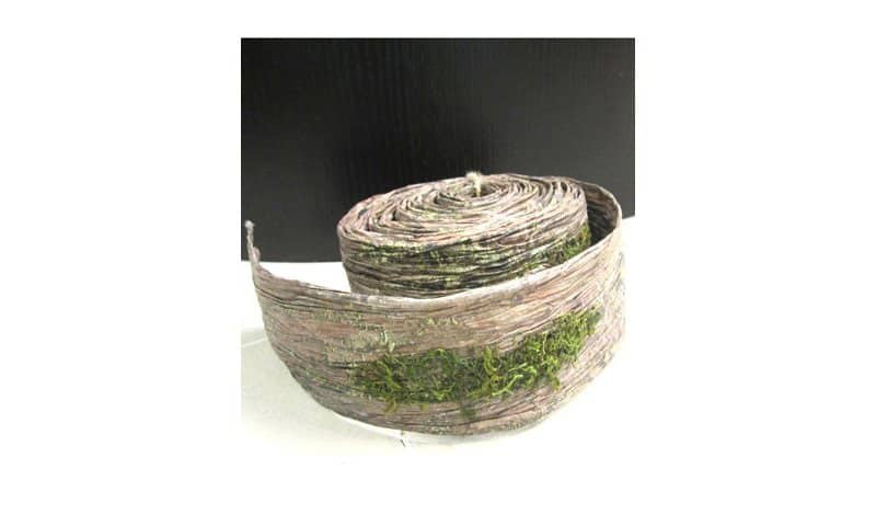 Paper Bark Ribbon Green-designrulz