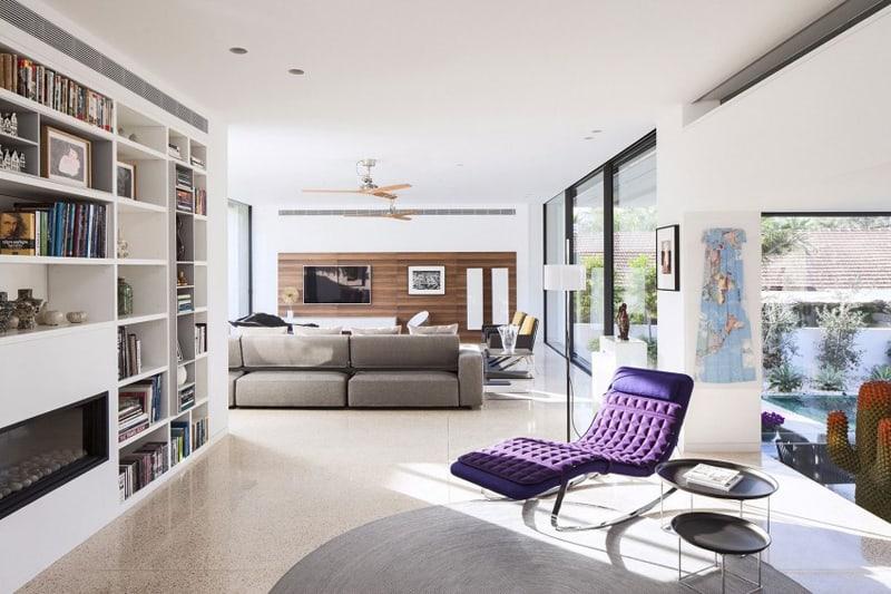 TV House A Modern Family House in Tel Aviv, Israel-designrulz (1)