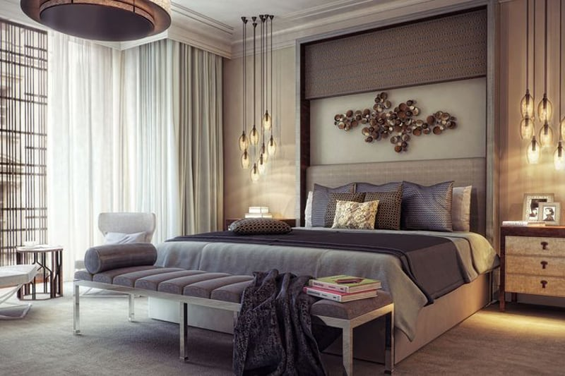 20 modern contemporary masculine bedroom designs for Chambre a coucher 1940