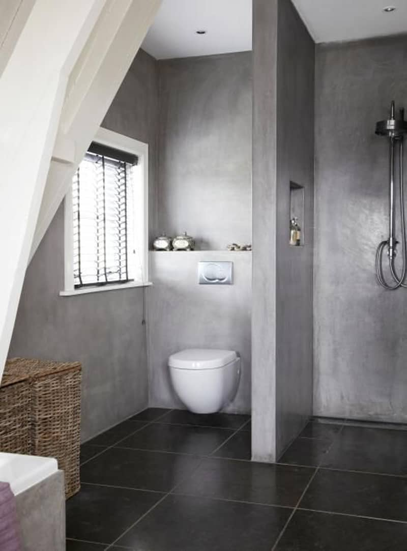 20 amazing bathroom designs with concrete. Black Bedroom Furniture Sets. Home Design Ideas