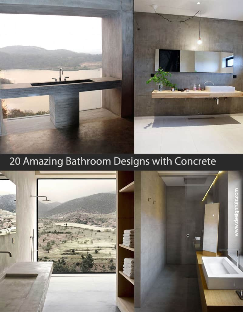 Concrete Bathroom Designrulz Cover