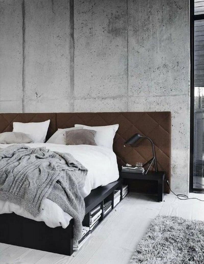 concrete bedroom-designrulz (1)