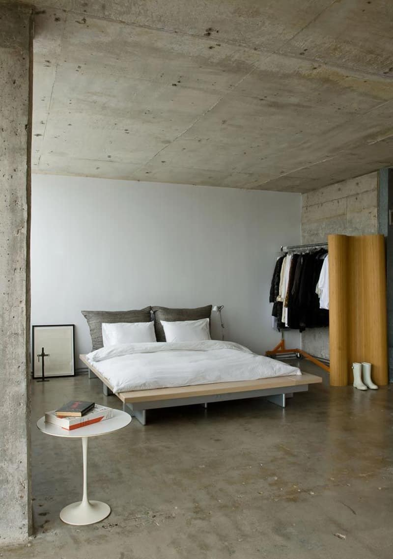 concrete bedroom-designrulz (10)