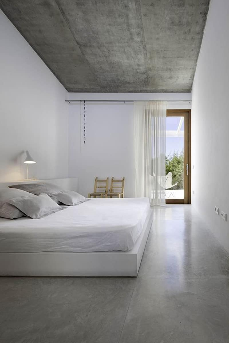 concrete bedroom-designrulz (6)