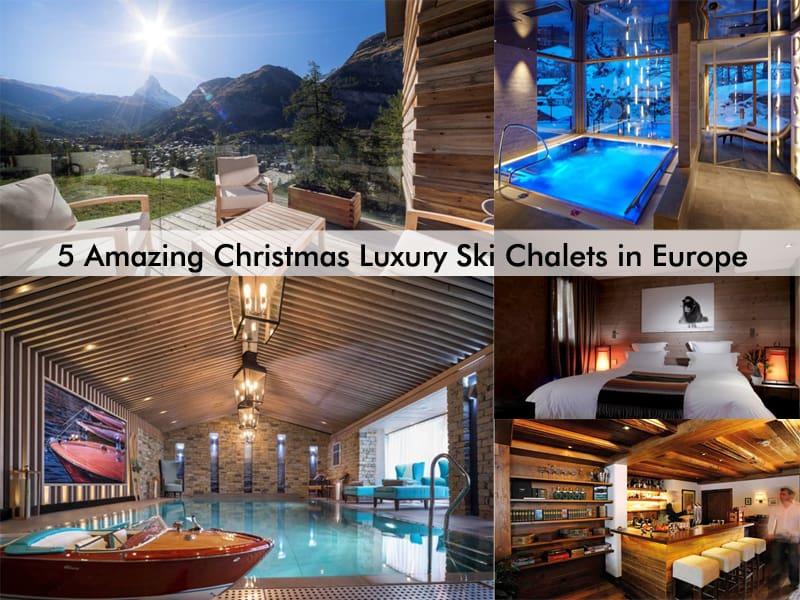 cover- Christmas Luxury Ski Chalets