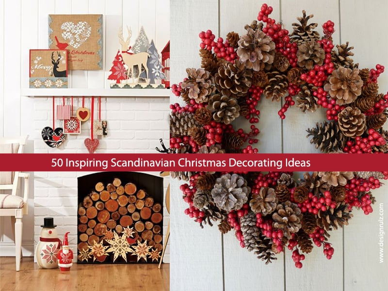 50 inspiring scandinavian christmas decorating ideas for Deco decorations