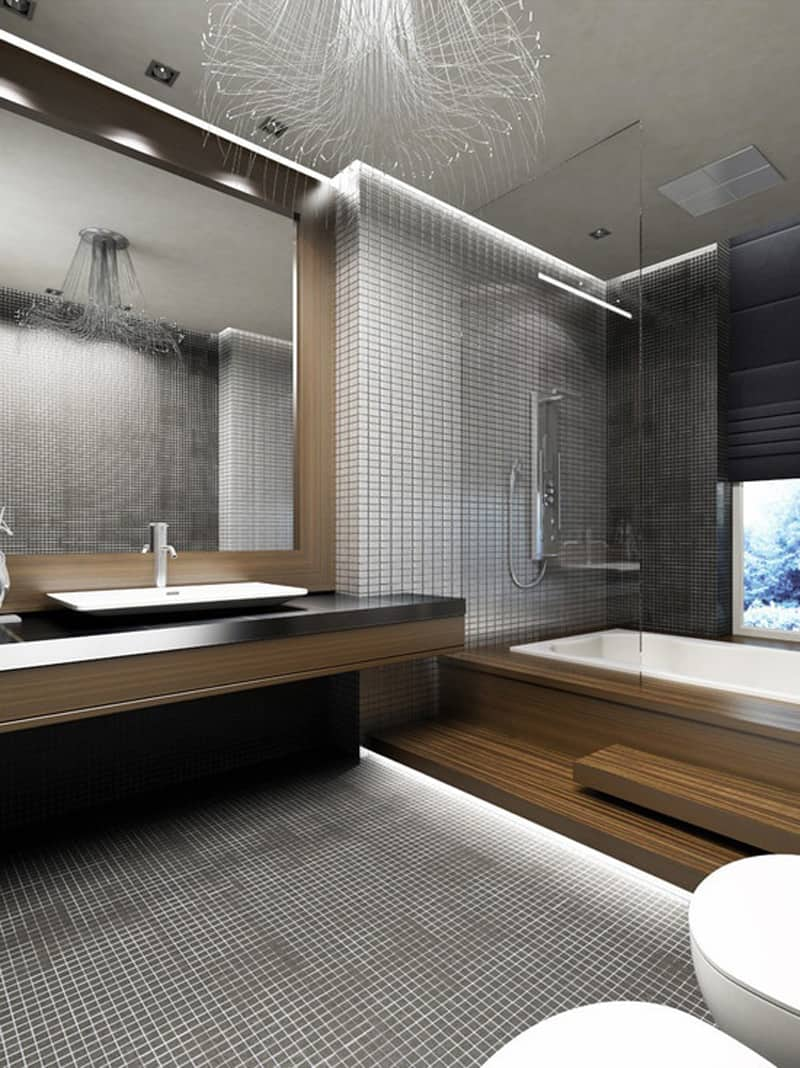 modern bathroom design how to light your bathroom right designrulz 14223