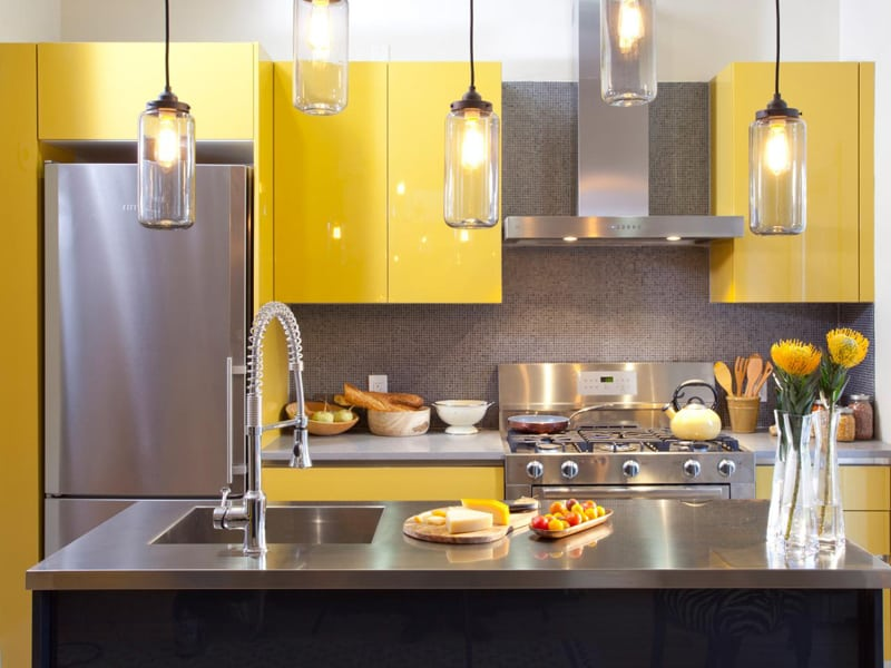 yellow kitchen -designrulz (1)