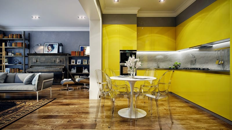 yellow kitchen -designrulz (12)