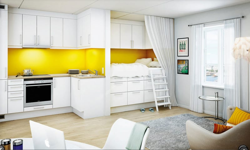 yellow kitchen -designrulz (14)