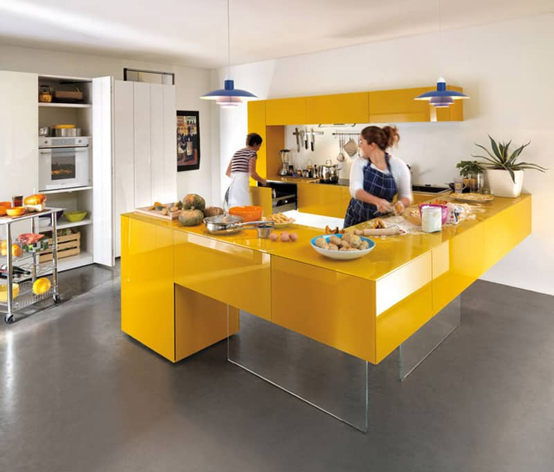 yellow kitchen -designrulz (16)
