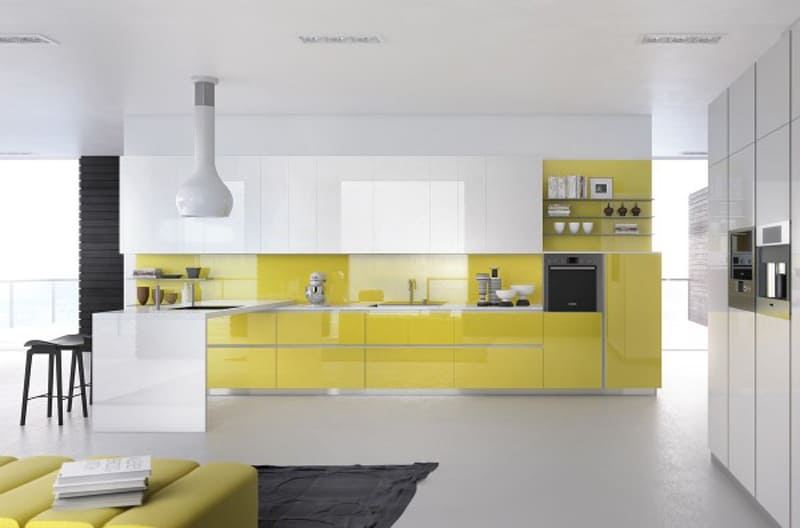 yellow kitchen -designrulz (3)