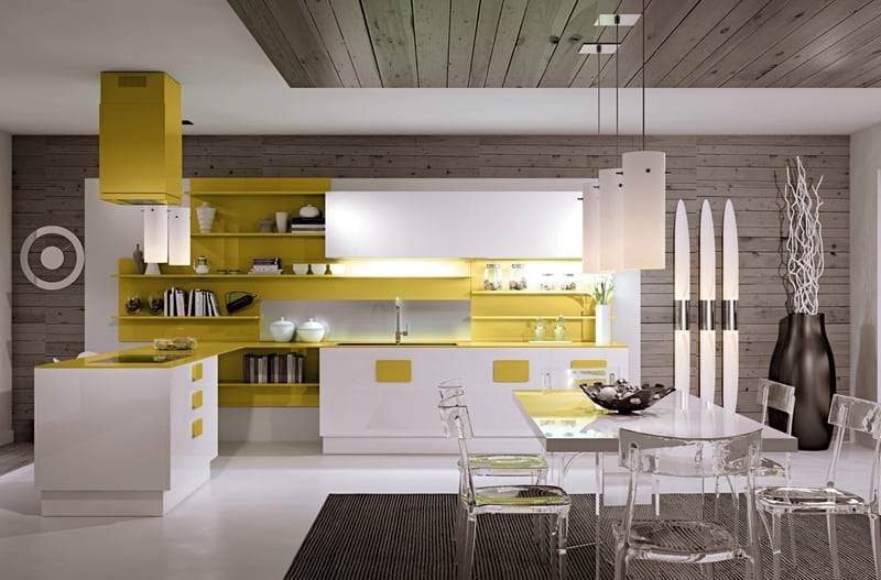 yellow kitchen -designrulz (4)