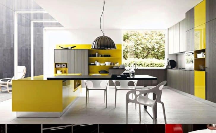 25 Modern Yellow Kitchen Designs