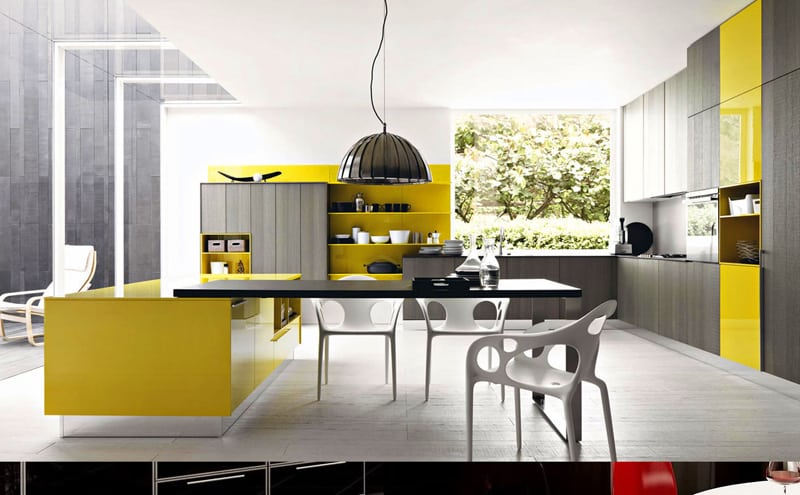 yellow kitchen -designrulz (5)
