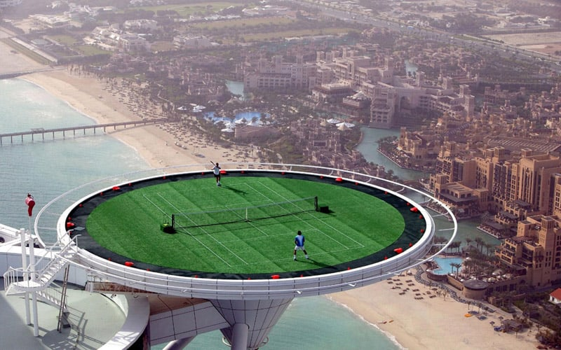5 Spectacular Tennis Courts Around the World