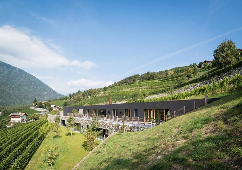 Spectacular Winery Architecture In Bozen Italy