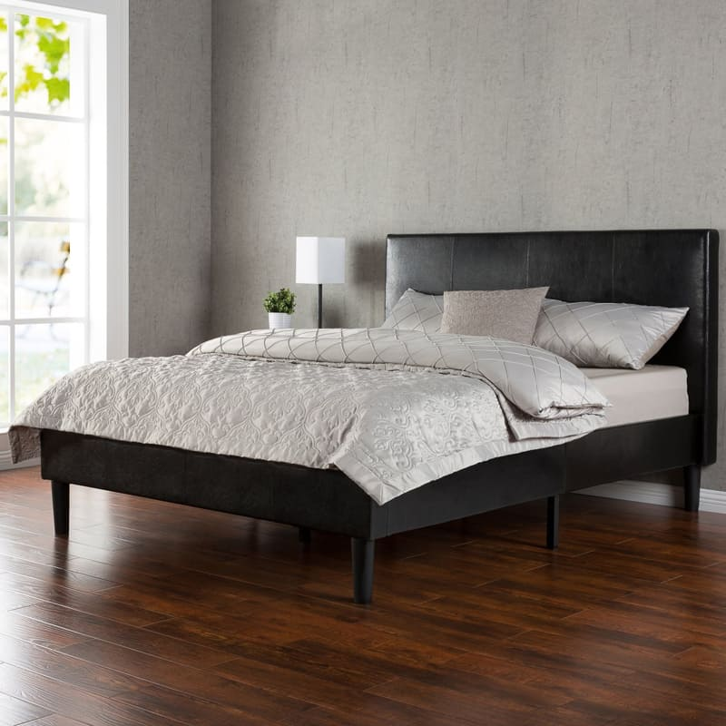 Zinus Deluxe Faux Leather Platform Bed (1)