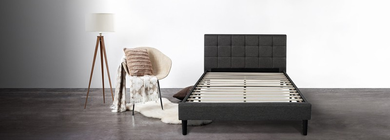 Zinus Deluxe Faux Leather Platform Bed (2)