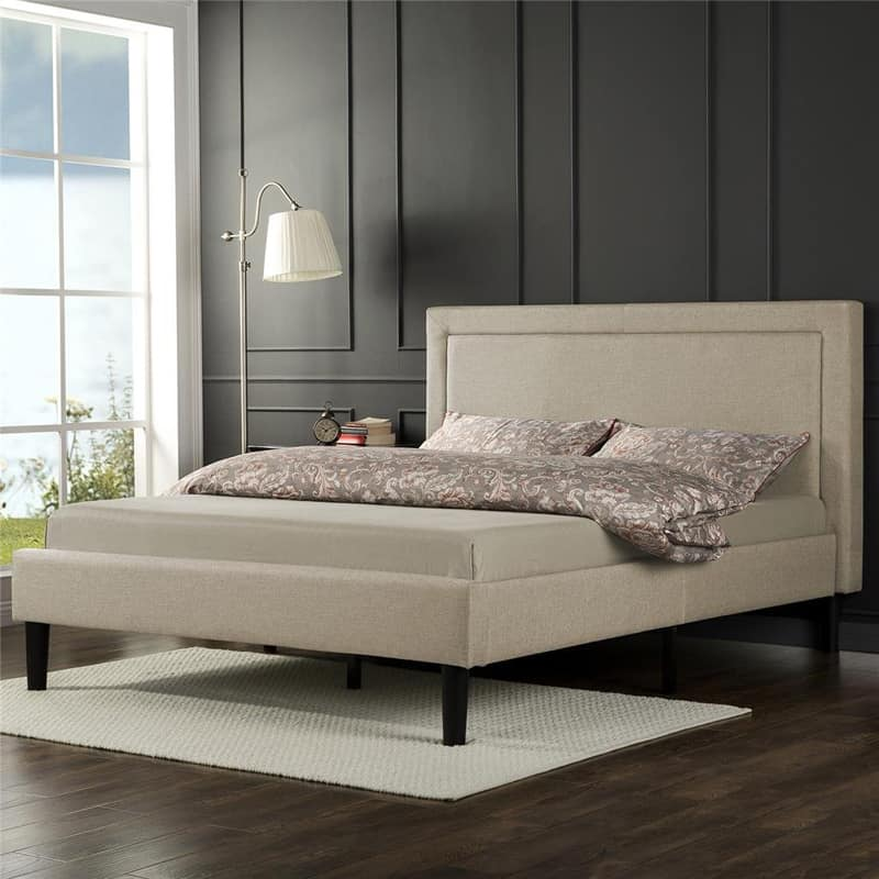 Zinus Upholstered Detailed Platform Bed with Wooden Slats-designrulz (2)
