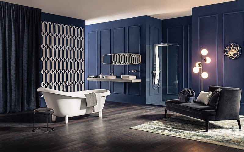 38 Luxurious Bathrooms Decorated With Art Pieces DesignRulz.com