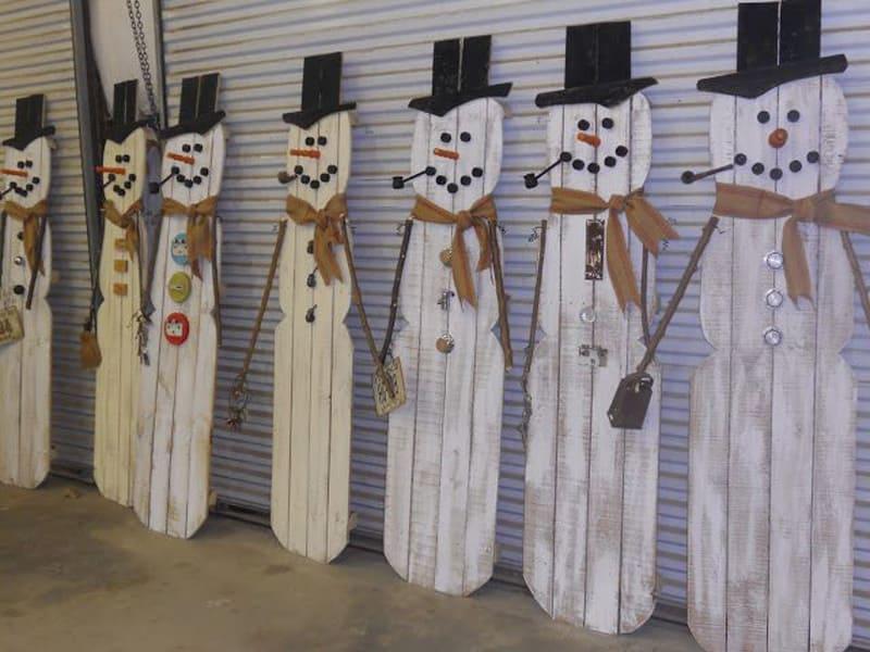 20 christmas decorations using pallets - Weihnachtsdeko palette ...