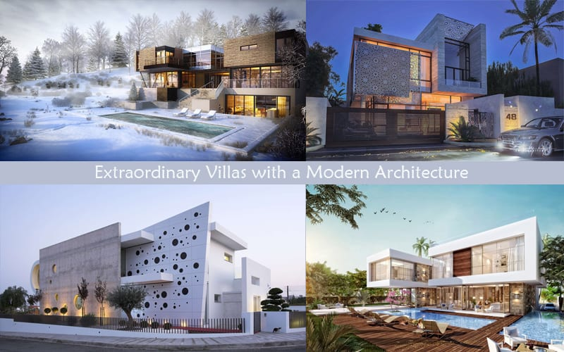 A Set Of Extraordinary Villas With Modern Architecture