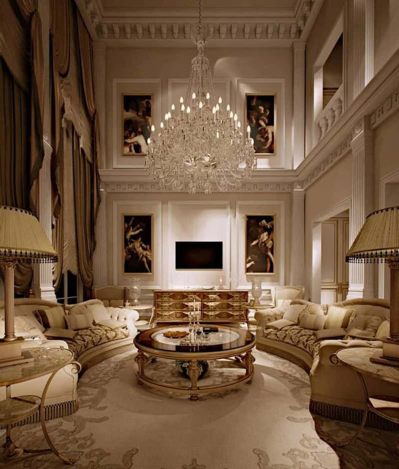 Glamorous Living Room Designs That Wows: 40 Luxurious Grand Foyers For Your Elegant Home