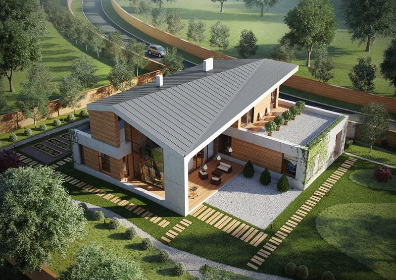 A set of extraordinary villas with a modern architecture for Rustic contemporary house plans
