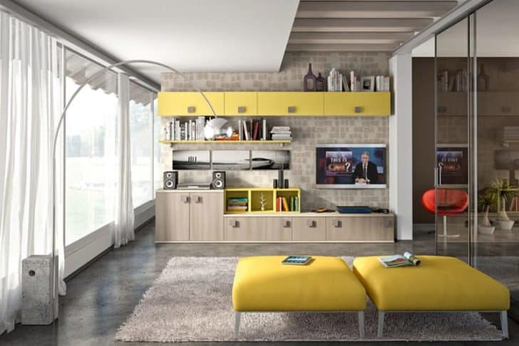 30 Modern Living Room Wall Units With Storage Inspiration