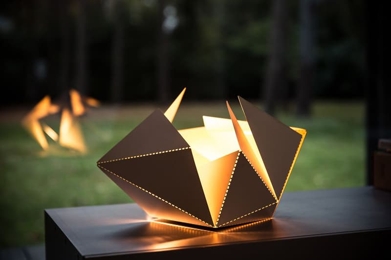 Origami Inspired Folding Lamp By Thomas Hick