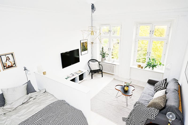 Studio apartment in gothenburg with smart scandinavian design - Incredible swedish home design ideas that can make you drooling ...