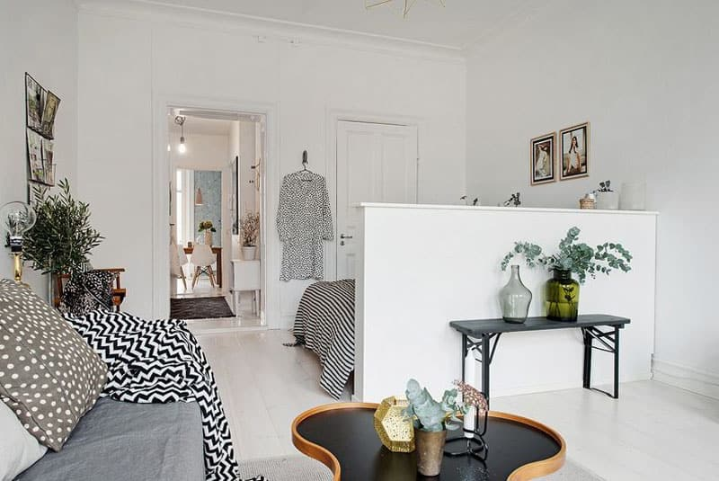 Small Living Room Decoration 6 Smart Ideas To Make It: Studio Apartment In Gothenburg With Smart Scandinavian Design