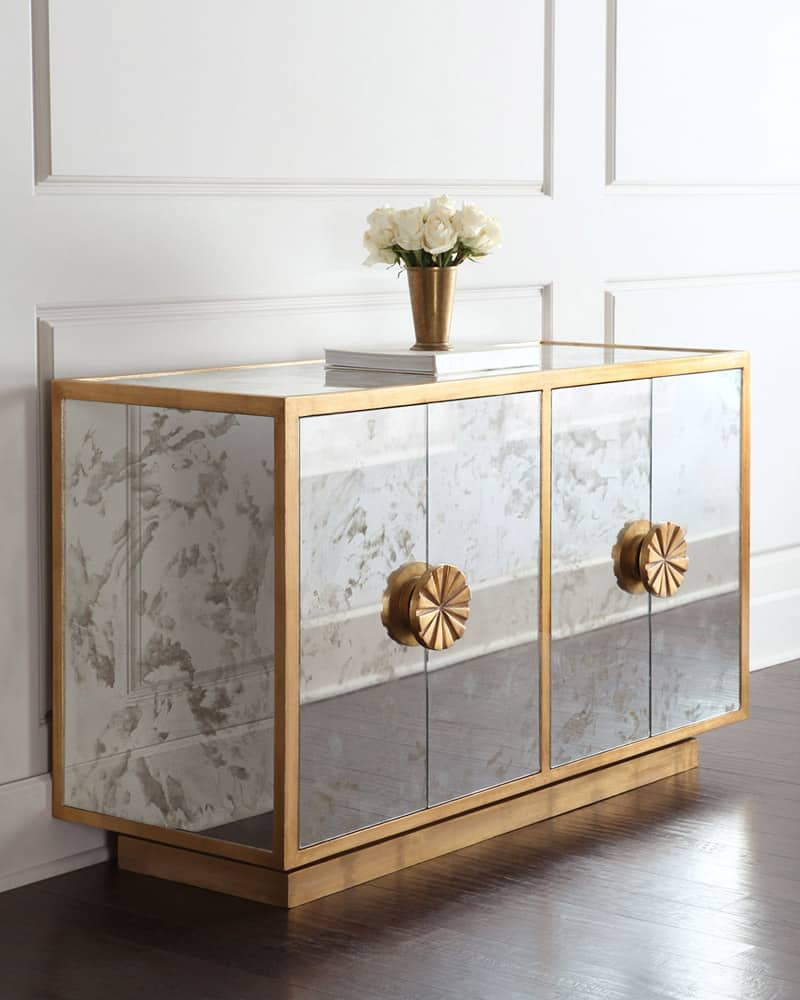 mirrored buffet tables how to decorate with mirrors 4158
