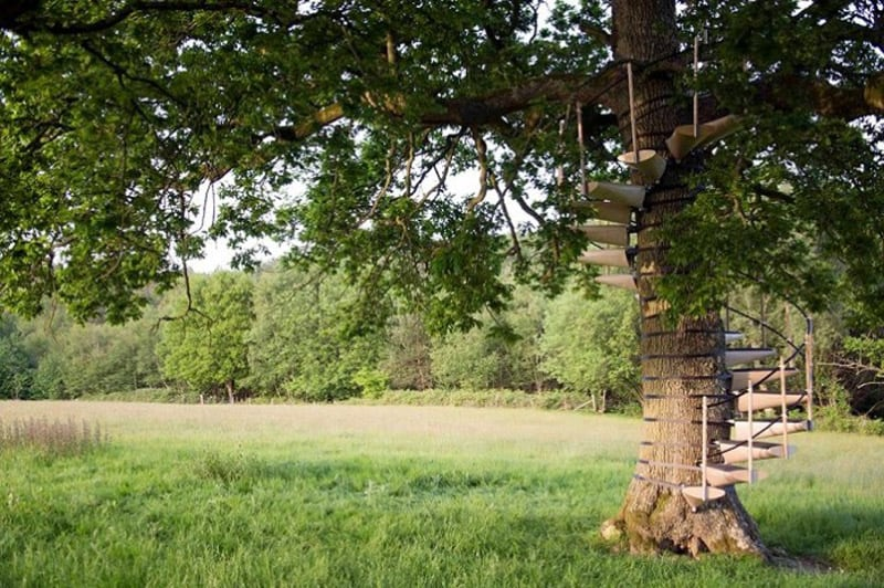 Spiral Staircase For Your Backyard Tree-designrulz (4)