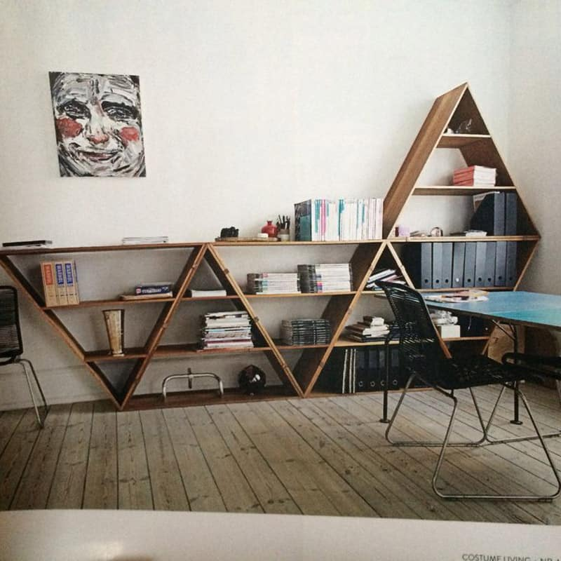 Diy Interior Designer: Wooden Triangle Shelves For Your Modern And Contemporary