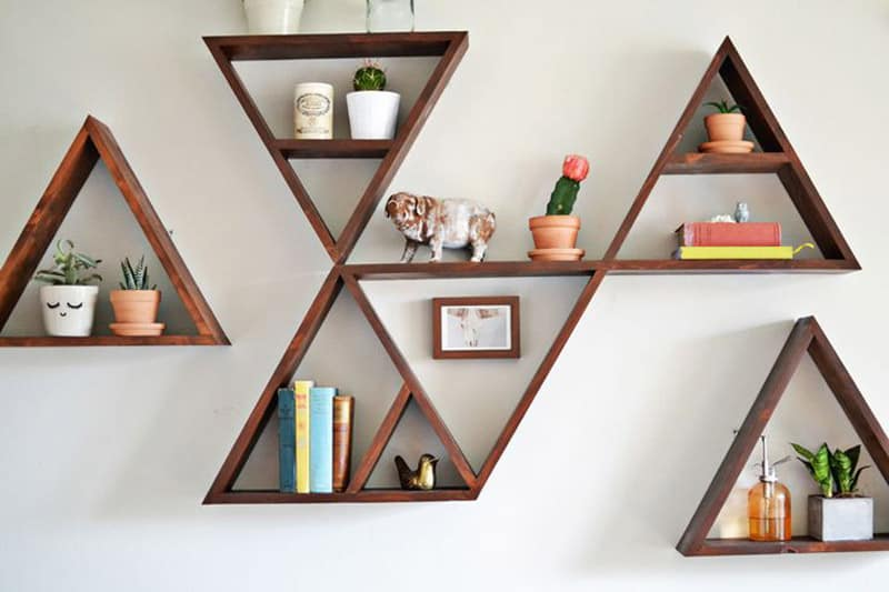 Wooden Triangle Shelves for Your Modern and Contemporary  : Triangles DESIGNRULZ 2 from www.designrulz.com size 800 x 533 jpeg 34kB