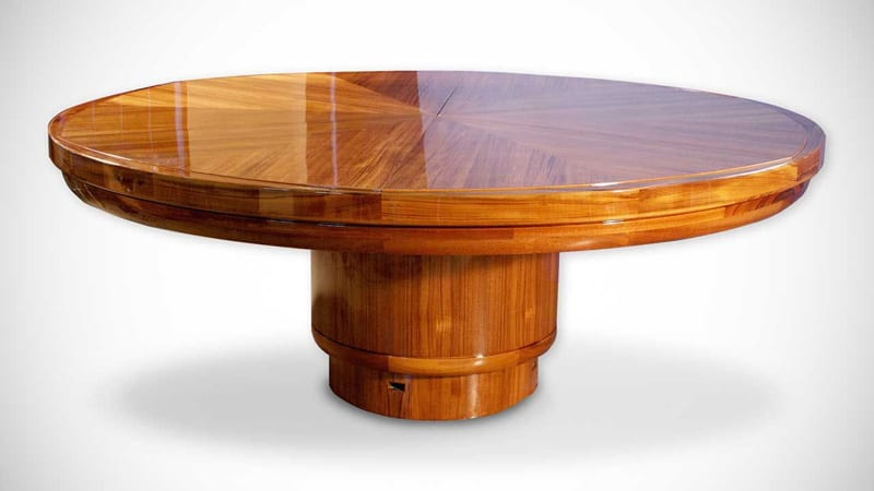 expandable round dining table by fletcher