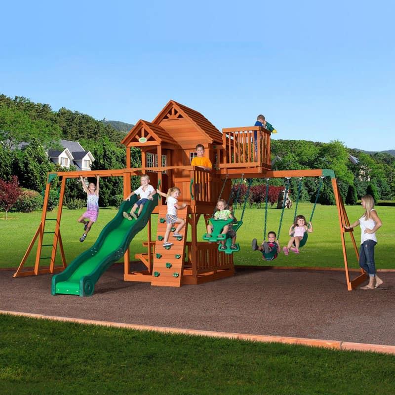 Adventure Skyfort All-Cedar Play Set- 2
