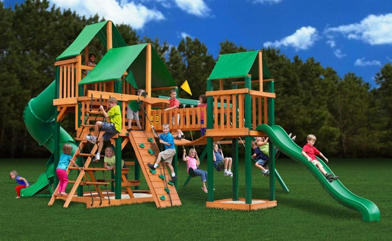 Gorillaplay Sets Home Backyard Playground-2 (1) - Backyard Playground And Swing Sets Ideas: Backyard Play Sets For