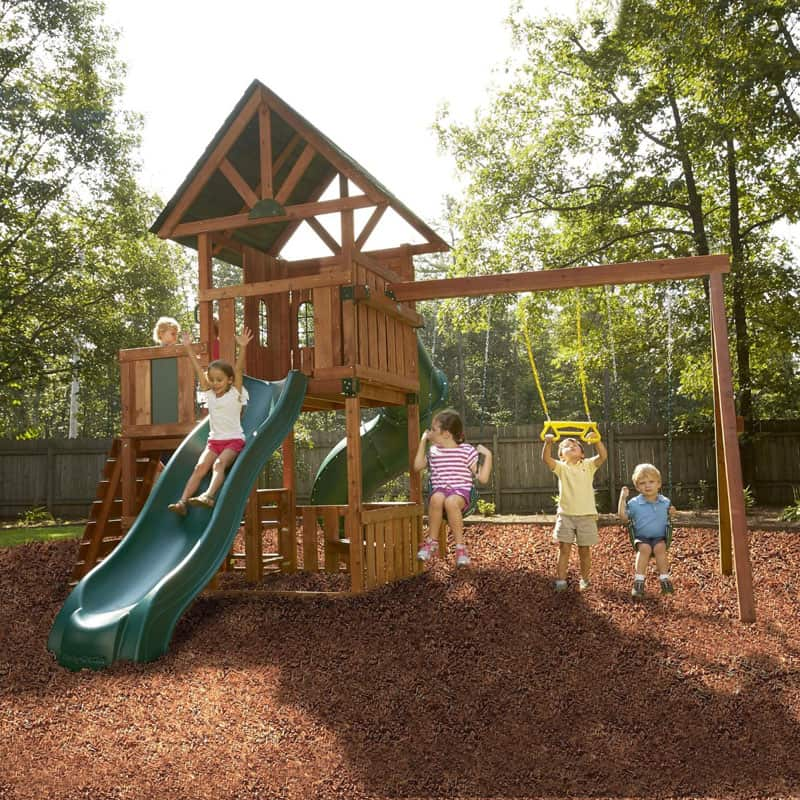 Southampton Wood Complete Ready-to-Assemble Swing Set Kit-5
