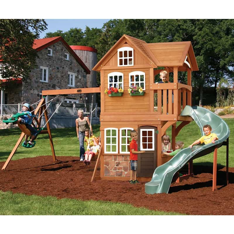 backyard playground and swing sets ideas backyard play sets for your kids. Black Bedroom Furniture Sets. Home Design Ideas