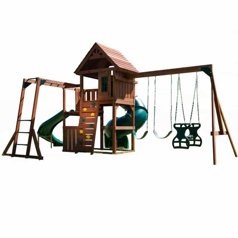 Swing-N-Slide Grandview Twist Wood Complete Play Set-2