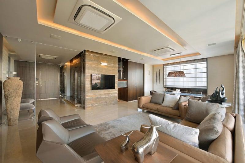 Luxury living a duplex apartment in mumbai india for Duplex house interior designs in india