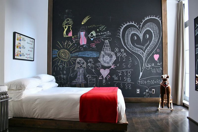 Creative Bedrooms with Chalkboards-DESIGNRULZ (10)