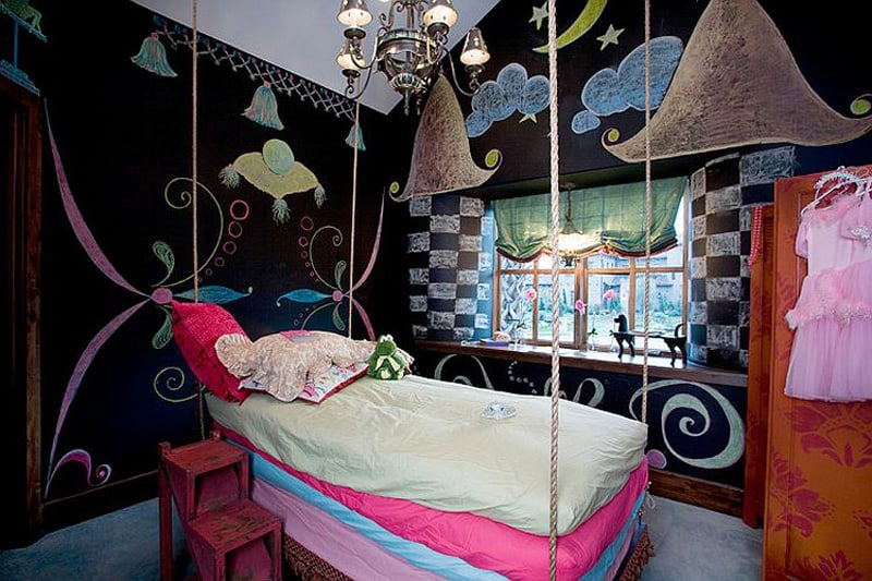 Creative Bedrooms with Chalkboards-DESIGNRULZ (2)