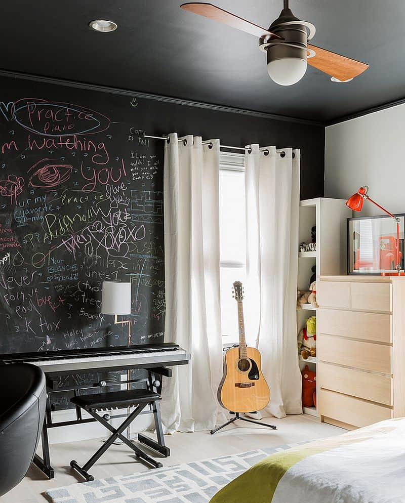 Creative Bedrooms with Chalkboards-DESIGNRULZ (6)